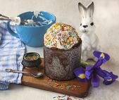 Easter cake with sugar glaze — Stock Photo
