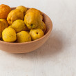 Stock Photo: Harvest Japanese quince
