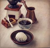 Morning hot coffee — Stock Photo
