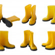 Set of yellow gumboots — Stock Photo
