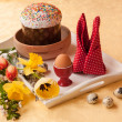 Stock Photo: Traditional Easter kulich