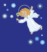 Christmas Angel with Star — Foto Stock