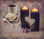 Romantic morning with coffee. — Stock Photo