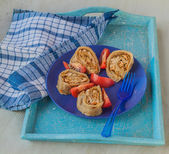 Hanuma   roll stuffed with meat — Zdjęcie stockowe