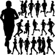 Running set 2 - Stock Vector