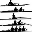 Stock Vector: Rowing set