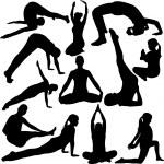 Yoga collection — Stock Vector