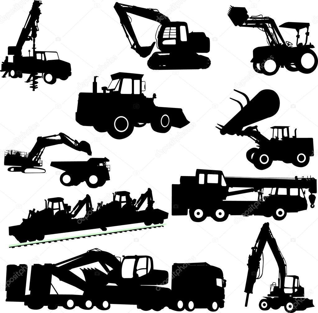 建筑机械 — 图库矢量图像08