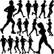 People running collection — Stock Vector