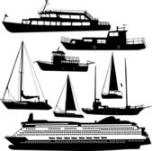 Ships transportation collection — Stok Vektör