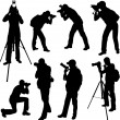 Stock Vector: Photographer silhouettes