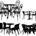 桌子和椅子 — 图库矢量图片