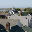 Rooftops and Coast — Stock Photo