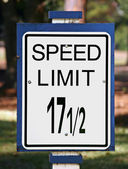 Speed Limit Sign — Stock Photo