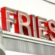 Fries Sign — Stock Photo