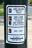Crosswalk Sign — Stock Photo