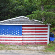 Stock Photo: Flag Garage
