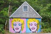 Marilyn garażu — Zdjęcie stockowe