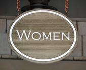 Women sign — Stock Photo