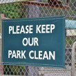 Keep Park Clean — Stock Photo
