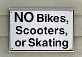 No Bikes sign — Stock Photo