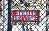 High Voltage Sign 2 — Stock Photo