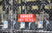 High Voltage Sign 3 — Stock Photo