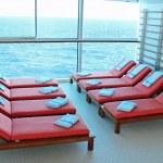 Solarium Lounge Chairs — Stock Photo