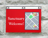 Sanctuary Sign — Stock Photo