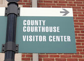 Courthouse Sign 3 — Stock Photo