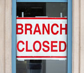 Branch Closed — Stock Photo
