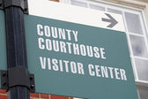 Courthouse Sign 2 — Stock Photo