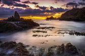 海岸的自然公园的 cabo de gata 日落 — 图库照片