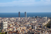 Panorama of Barcelona — Foto de Stock