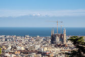Panorama of Barcelona — 图库照片