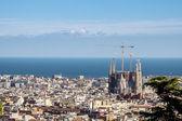 巴塞罗那的全景 — 图库照片