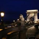 Budapest by night and Chain Bridge — Stock Photo #19757731