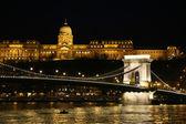 Budapest by night andChain Bridge — Stock Photo