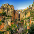 The village of Ronda in Andalusia, Spain. This photo made by HDR technic - Stock Photo