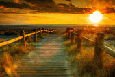 Sunset beach-This photo made by hdr technic — Stock Photo