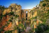 Miejscowości ronda w andaluzji, hiszpania. to zdjęcie wykonane przez hdr technic — Zdjęcie stockowe