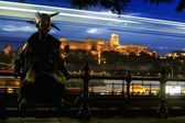 Night lights in Budapest-Hungary — Stock Photo