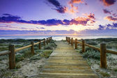 Sunset beach hdr technic — Stock Photo