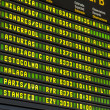 Airport Departure Board — Stockfoto