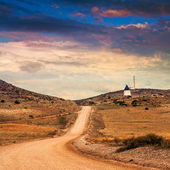 Spanish landscape. Desolate rural area in mountains of Andalusia — Stok fotoğraf