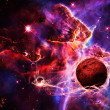 Magical space and nebula  art galaxy creative background - 