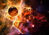 Magical space and nebula art galaxy creative background — Stock Photo