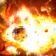 Nuclear explosion in the galaxy — Stock Photo