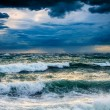 View of storm seascape - Foto Stock