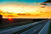 Sunset highway — Stock Photo